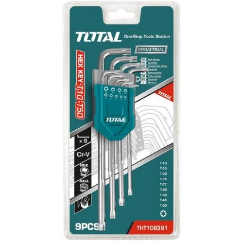 TOTAL ΣΕΤ TORX 9 ΤΕΜ (THT106392)